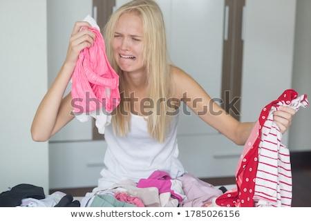 женщину отчаянный домашнее хозяйство работа по дому девушки стороны Сток-фото © photography33