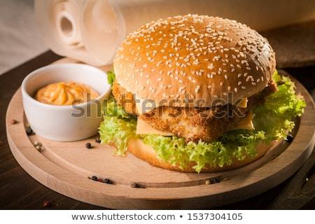 сочный рыбы Burger свежие домашний Сток-фото © Kacpura