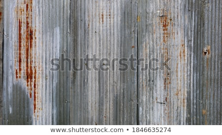 old rusted corrugated metal wall stock photo © happydancing