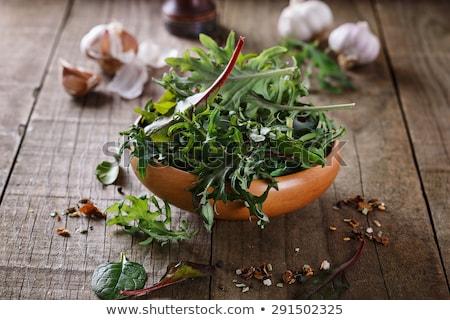 Raiz de beterraba verde tigela bebê cozinhar vegetal Foto stock © dornes