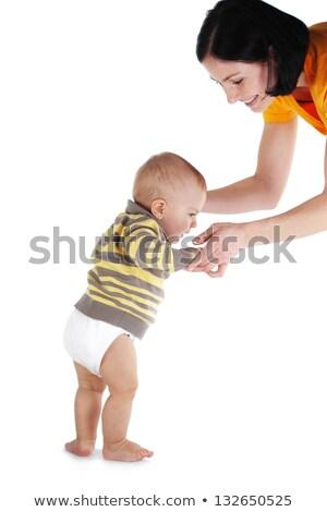 moeder · baby · benen · eerste · stappen · portret - stockfoto © paha_l