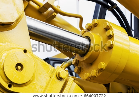 buldózer · nagy · narancs · építkezés · égbolt · Föld - stock fotó © chrisroll
