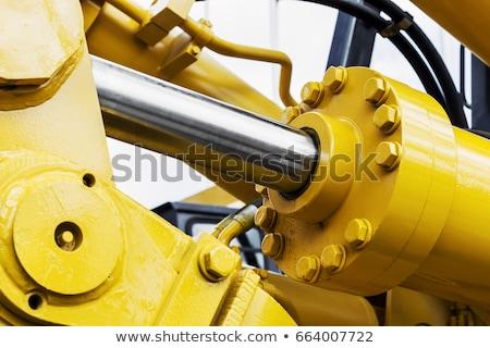 bulldozer · groot · oranje · graafmachine · bouw · gebouw - stockfoto © chrisroll
