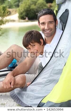 父から息子 湖 風景 山 緑 旅行 ストックフォト © photography33