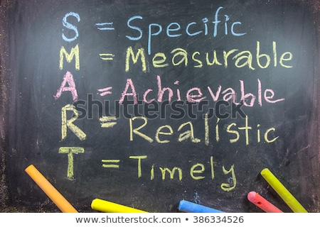 smart goal setting concept on blackboard stock photo © bbbar