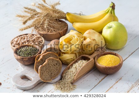 Zdjęcia stock: Food Sources Of Complex Carbohydrates