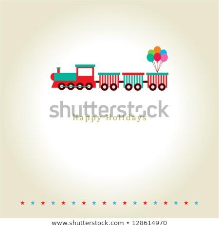 Kinderen locomotief geïsoleerd witte kind rook Stockfoto © konturvid