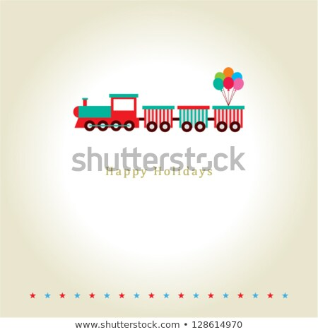 Crianças locomotiva isolado branco criança fumar Foto stock © konturvid