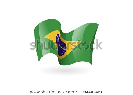 brazil waving flag stock photo © milsiart