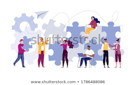 Stock photo: putting the pieces together