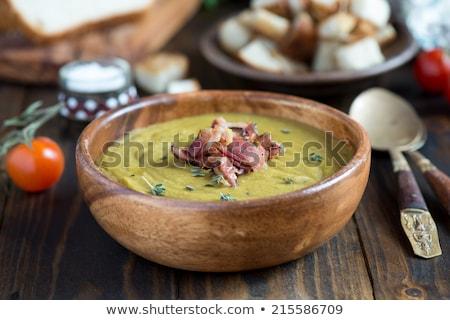 soep · kom · diner · lunch · maaltijd - stockfoto © m-studio