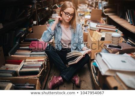 Cuidadosamente libro naturaleza verano escuela educación Foto stock © OleksandrO