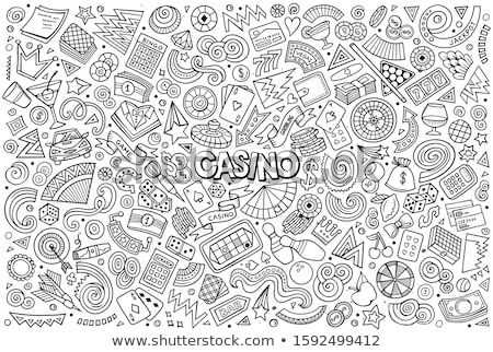 Vector Icon Collection On A Casino And Fortune Theme Stock photo © balabolka