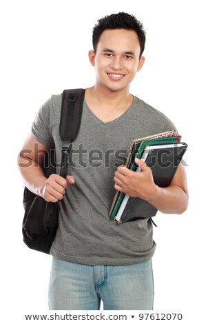 Asian college boy Stock photo © szefei