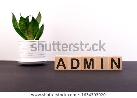 Administrador azul cara palavra ilustração 3d internet Foto stock © drizzd