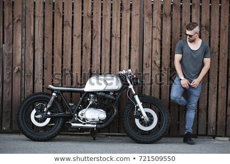 Bisiklet motosiklet beyaz güç Hint Stok fotoğraf © RTimages