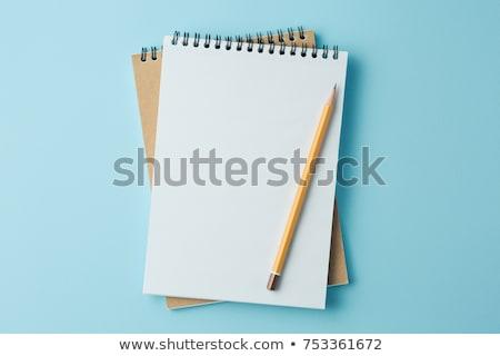 Blauw nota boek business papier textuur Stockfoto © Witthaya