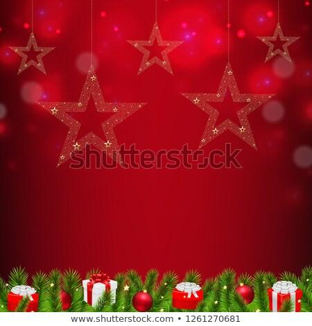 Noël · vert · arbre · nature · fond · art - photo stock © adamson
