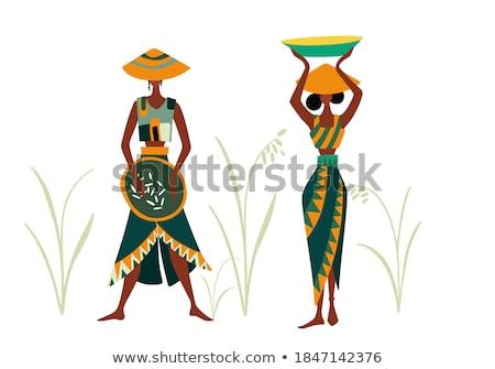 rice field landcape in bali indonesia Stock photo © travelphotography