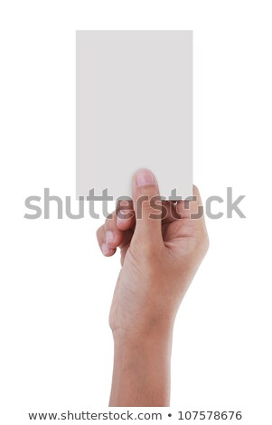 gray color of the card in the right hand grasp Stock photo © ozaiachin