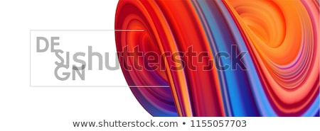 3d abstract twisted blue shape on white Stock photo © Melvin07