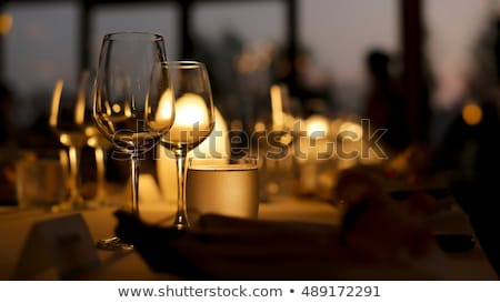 Stock photo: Detail of an elegant dinner setting