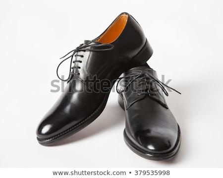 ペア · 黒 · フェティッシュ · 靴 · 孤立した · 白 - ストックフォト © kurhan