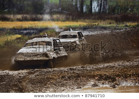 Race for survival. Two cars Stock photo © acidgrey