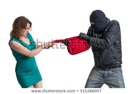 Criminal young man and woman. Isolated on white Stock photo © acidgrey