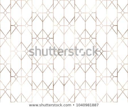 Dourado geometria padrão preto círculos fundo Foto stock © ankarb