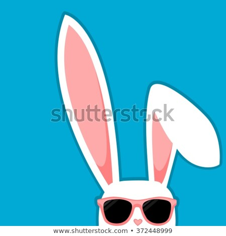 easter bunny with sunglasses Stock photo © djdarkflower