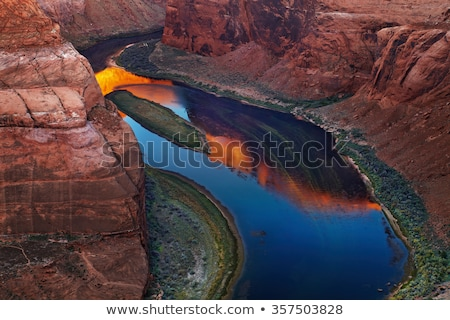 horseshoe bend glen canyon overlook colorado river page arizona stock photo © billperry