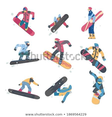 Erkek snowboard giysi gülümseme moda portre Stok fotoğraf © photography33