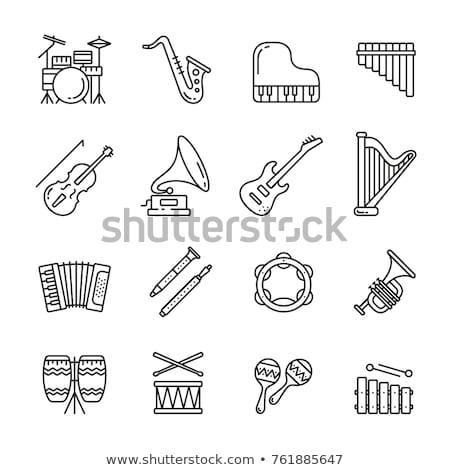 саксофон · иллюстрация · аннотация · фон · рок - Сток-фото © cteconsulting