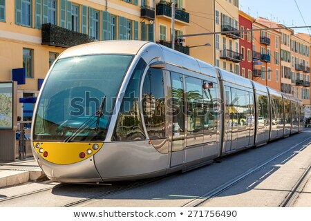 Modern tram in Nice city, France. Stock photo © kyolshin