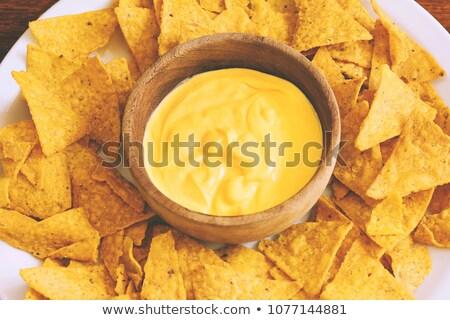 nachos · hortalizas · verde · placa · maíz - foto stock © m-studio