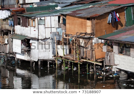 Shanty - Squatter housing in Asia Stock photo © alptraum