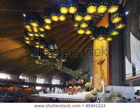 senhora · santuário · religioso · parede · pedra · arquitetura - foto stock © jkraft5