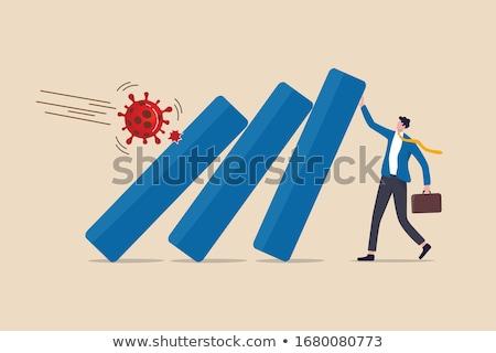 Economisch depressie vallen business zakenman financieren Stockfoto © curvabezier