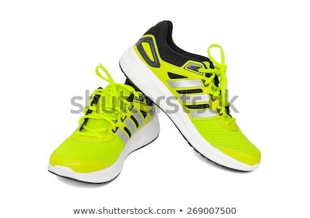 Kettő futócipők divat cipők csipke fonal Stock fotó © zzve