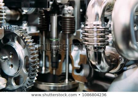 Motor diesel carro preto motor ferro Foto stock © luckyraccoon