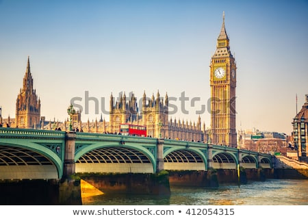 London Big Ben szófelhő híd köd Stock fotó © Refugeek