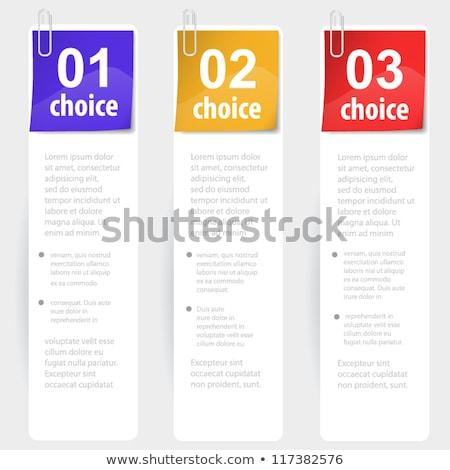Stapled note choice sticks stock photo © TarikVision