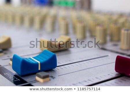 música · botones · efecto · hasta · abajo · botón - foto stock © carbouval