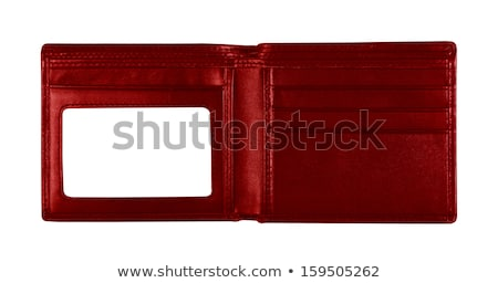 Vide portefeuille affaires homme noir Photo stock © sqback
