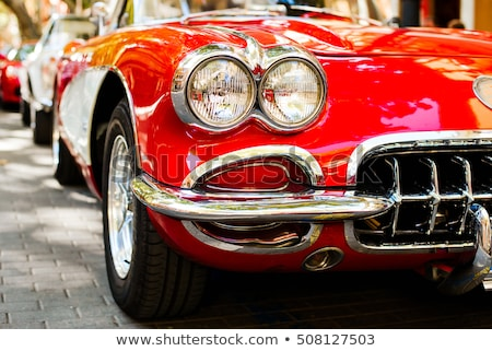 vintage car detail stock photo © arenacreative