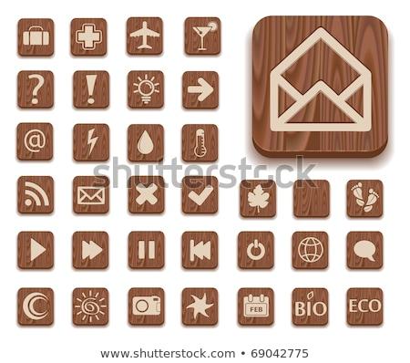 résumé · mail · icône · ordinateur · papier · internet - photo stock © pathakdesigner