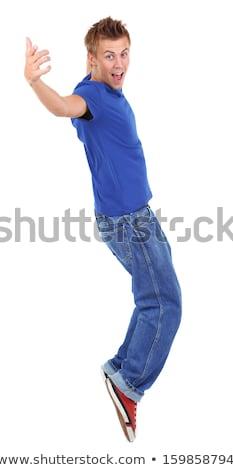 Dansen gelukkig glimlachend jongen omhoog Stockfoto © soupstock