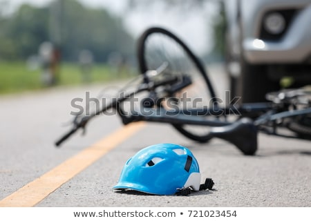 Car accident - Victim in a crashed vehicle Stock photo © Kzenon