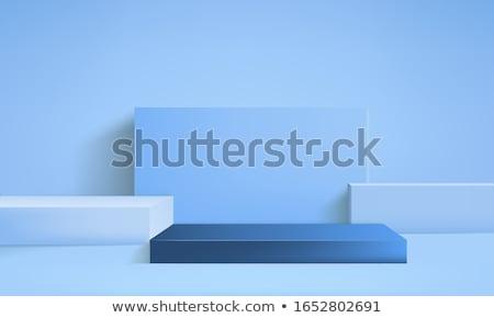 biały · szary · niebieski · obrus · dziewięć · placu - zdjęcia stock © cherezoff